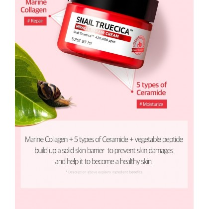 SOME BY MI - Snail Truecica Miracle Repair Cream ( 60gr )